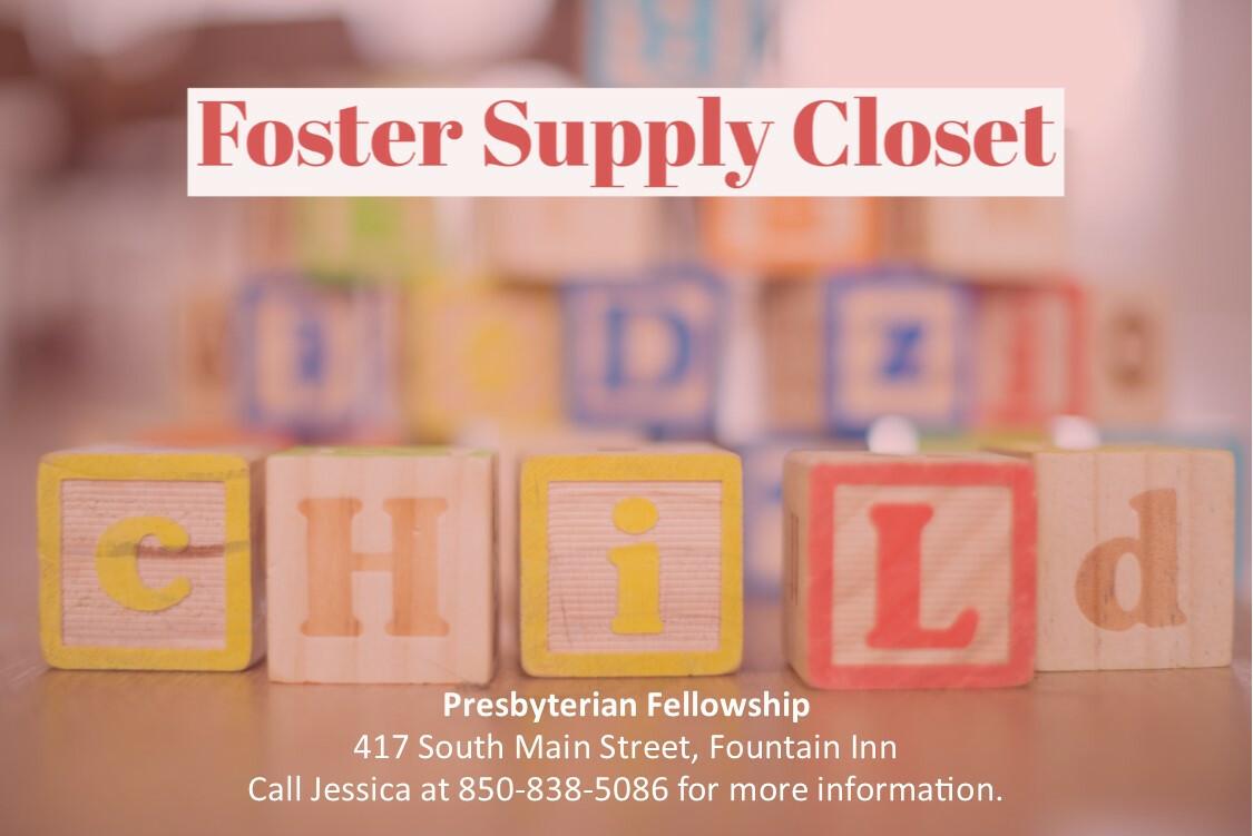 Foster Supply Closet Open